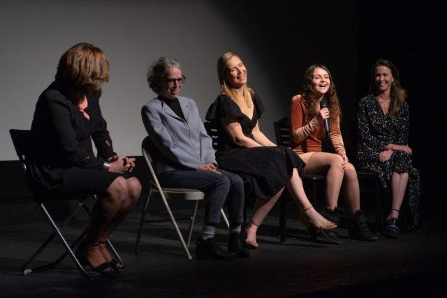 Image of Mystic Film Festival team on the stage during 2018 Mystlic Film Festival Q & A